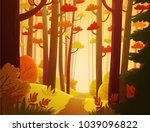 cartoon illustration background ... | Shutterstock .eps vector #1039096822