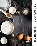 preparation baking kitchen... | Shutterstock . vector #1039098766