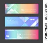 promotion ribbon banner  scroll ... | Shutterstock .eps vector #1039101106