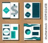 business presentation slides... | Shutterstock .eps vector #1039101658