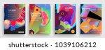 artistic poster templates.... | Shutterstock .eps vector #1039106212
