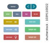 stylish multicolored web... | Shutterstock .eps vector #1039110022