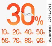 discount sale tag  10   20   30 ... | Shutterstock .eps vector #1039114066