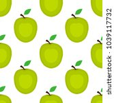 seamless background  apple on a ... | Shutterstock . vector #1039117732