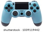 light blue gaming controller... | Shutterstock . vector #1039119442