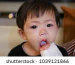 close up of asian baby   infant'... | Shutterstock . vector #1039121866