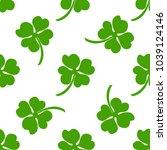seamless background  irish... | Shutterstock . vector #1039124146