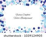 festive color round confetti... | Shutterstock .eps vector #1039124905