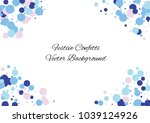 festive color round confetti... | Shutterstock .eps vector #1039124926