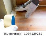 painter worker protecting...   Shutterstock . vector #1039129252