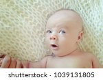 little newborn baby | Shutterstock . vector #1039131805