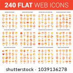 vector set of 240 64x64 pixel... | Shutterstock .eps vector #1039136278