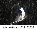 entrance to the cave  a male...   Shutterstock . vector #1039139332