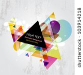 abstract triangle banner... | Shutterstock .eps vector #103914218