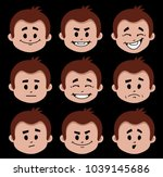 set of flat icons with people... | Shutterstock .eps vector #1039145686