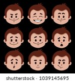 set of flat icons with people... | Shutterstock .eps vector #1039145695