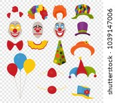 vector party birthday or 1th... | Shutterstock .eps vector #1039147006