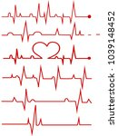 heart rate graphic. vector...   Shutterstock .eps vector #1039148452