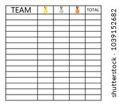 tournament table of tests of... | Shutterstock . vector #1039152682