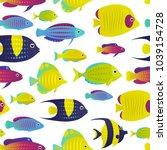 vector illustration  seamless... | Shutterstock .eps vector #1039154728