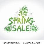 spring sale hand drawn...   Shutterstock .eps vector #1039156705