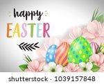 happy easter lettering. easter...   Shutterstock .eps vector #1039157848