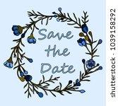 handdrawn wreath made in vector.... | Shutterstock .eps vector #1039158292