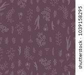 vector vintage seamless floral...   Shutterstock .eps vector #1039158295