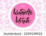 calligraphy text for t shirt... | Shutterstock .eps vector #1039158922
