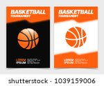 basketball brochure or web... | Shutterstock .eps vector #1039159006