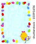 easter frame | Shutterstock .eps vector #10391656