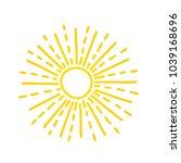 hand drawn cute shinny sun....   Shutterstock .eps vector #1039168696