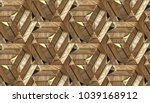 wood design 3d architectural... | Shutterstock . vector #1039168912