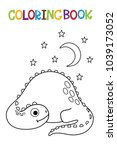 cute dino coloring book.  | Shutterstock .eps vector #1039173052