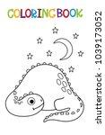 cute dino coloring book.  | Shutterstock .eps vector #1039173052