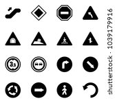 solid vector icon set  ... | Shutterstock .eps vector #1039179916