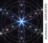 sacred geometry  glowing... | Shutterstock . vector #1039185592