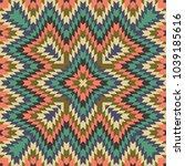 seamless tribal pattern ... | Shutterstock . vector #1039185616