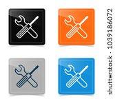 web design of service tools... | Shutterstock .eps vector #1039186072