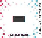 envelope  glitch effect vector...