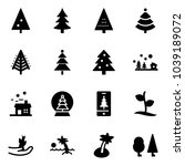solid vector icon set  ... | Shutterstock .eps vector #1039189072