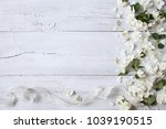 white wooden background with... | Shutterstock . vector #1039190515