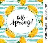 spring flowers  hello spring... | Shutterstock .eps vector #1039190785