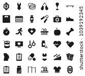flat vector icon set   diet... | Shutterstock .eps vector #1039192345