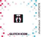 weighting  glitch effect vector ... | Shutterstock .eps vector #1039195078