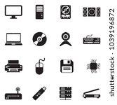 computer hardware icons. black... | Shutterstock .eps vector #1039196872
