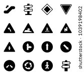 solid vector icon set  ... | Shutterstock .eps vector #1039198402