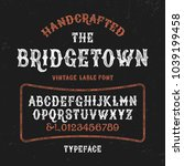 original handmade alphabet.... | Shutterstock .eps vector #1039199458