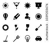 solid vector icon set   sun...