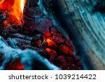 Hot Fireplace With Burning...